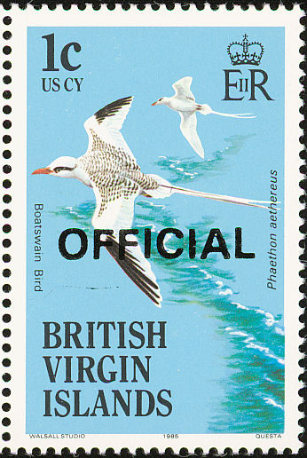 British Virgin Islands 1986 Birds Ovptd. OFFICIAL