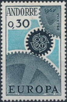 Andorra-French 1967 Europa