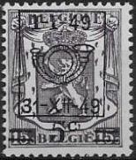Belgium 1949 Coat of Arms, Precanceled and Surcharged
