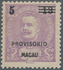 Macao 1900 Carlos I of Portugal Surcharged in Black