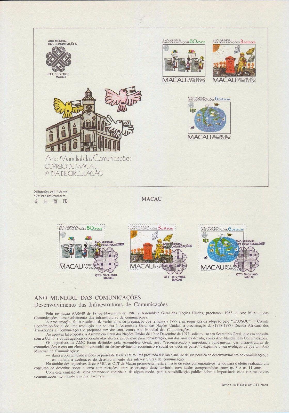 Macao 1983 World Communications Year