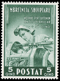Albania 1943 Surtax for the Control of Tuberculosis