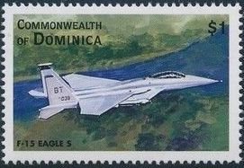 Dominica 1998 Modern Aircrafts l.jpg