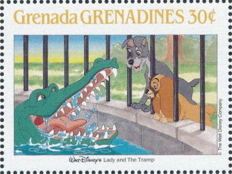 Grenada Grenadines 1988 The Disney Animal Stories in Postage Stamps 5e.jpg