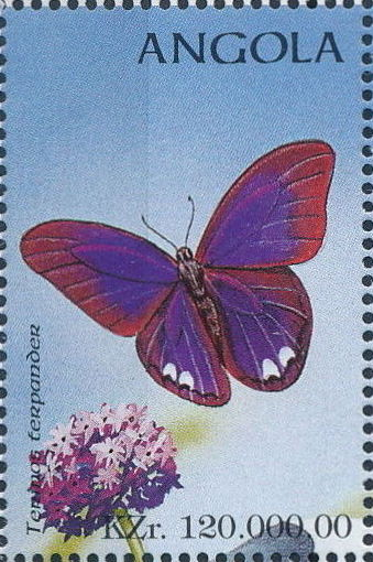 Angola 1998 Butterflies (1st Group)