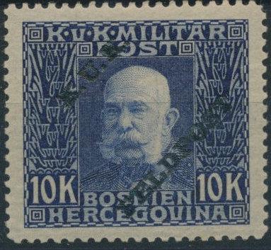 Austro-Hungarian Post Offices 1915 Emperor Franz Josef Overprinted u.jpg