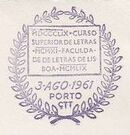 Portugal 1961 Centenary of the founding of the Faculty of Letters, Lisbon University PMb.jpg