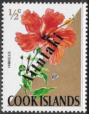Aitutaki 1972 Flowers from Cook Islands Overprinted AITUTAKI a.jpg