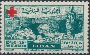 Lebanon 1947 Surtax for the Red Cross