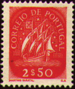 Portugal 1943 Portuguese Caravel (3rd Issue)