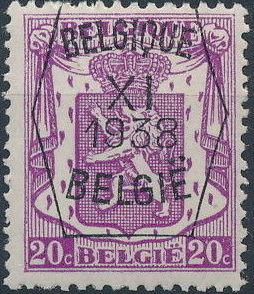 Belgium 1938 Coat of Arms - Precancel (11th Group) b.jpg