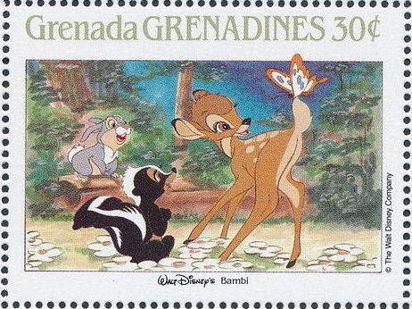 Grenada Grenadines 1988 The Disney Animal Stories in Postage Stamps 1b.jpg