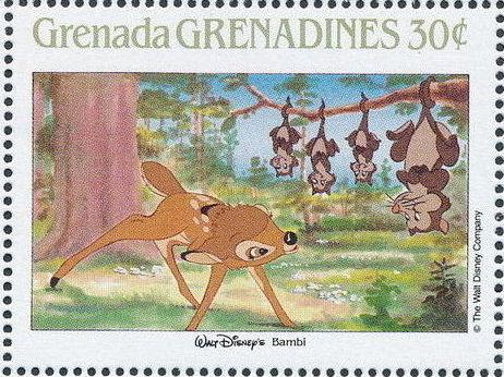Grenada Grenadines 1988 The Disney Animal Stories in Postage Stamps 1c.jpg