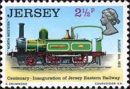 Jersey 1973 Centenary of Jersey Eastern Railway