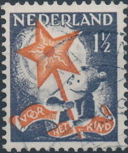 Netherlands 1933 Child Welfare Societies Surtax - Child Carrying the Star of Hope