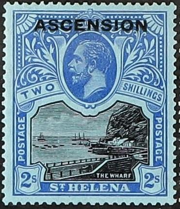 """Ascension 1922 Stamps of St. Helena Overprinted """"ASCENSION"""" k.jpg"""