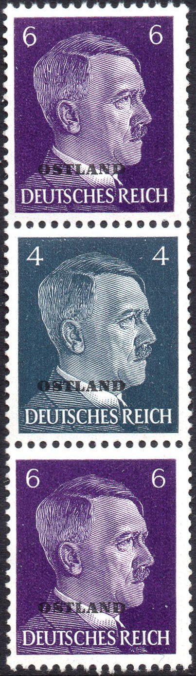German Occupation-Russia Ostland 1941 Stamps of German Reich Overprinted in Black s.jpg