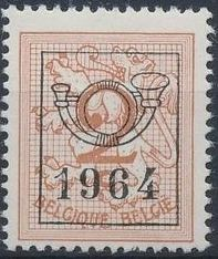 Belgium 1964 Heraldic Lion with Precancellations
