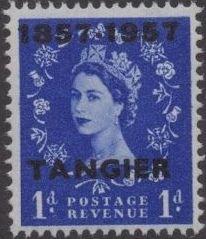 British Offices in Tangier 1957 Centenary Overprint (1857-1957) b.jpg