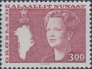 Greenland 1988 Queen Margrethe II a.jpg