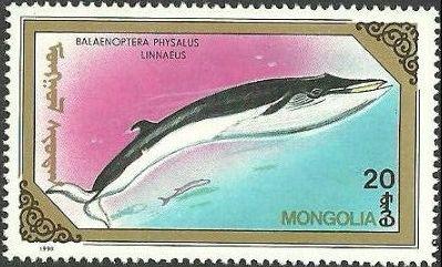 Mongolia 1990 Marine Mammals