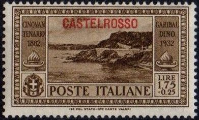 Italy (Aegean Islands)-Castelrosso 1932 50th Anniversary of the Death of Giuseppe Garibaldi h.jpg