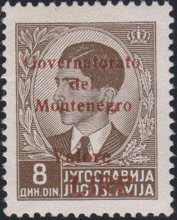 Montenegro 1941 Yugoslavia Stamps Surcharged under Italian Occupation p.jpg