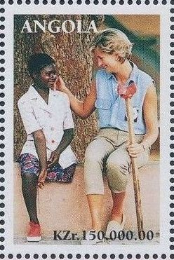 Angola 1998 1st Anniversary of the Death of Diana (3rd Group)