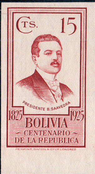 Bolivia 1925 Centenary of the Republic o.jpg