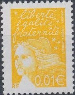 France 2002 Definitive Issue - Marianne de Luquet