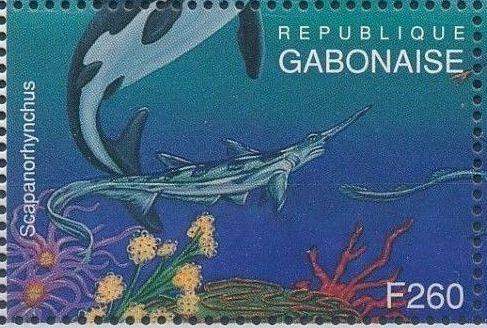 Gabon 1995 Prehistoric Wildlife zh.jpg