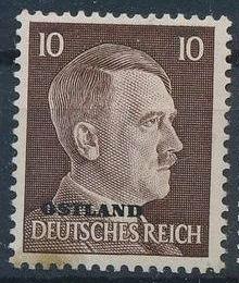 German Occupation-Russia Ostland 1941 Stamps of German Reich Overprinted in Black g.jpg