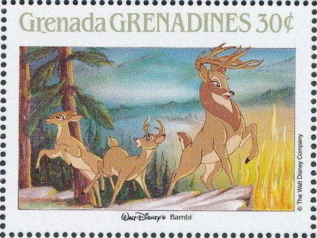 Grenada Grenadines 1988 The Disney Animal Stories in Postage Stamps 1h.jpg