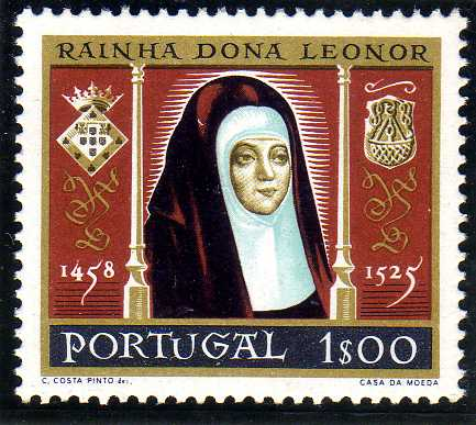 Portugal 1958 500th anniversary of the birth of Queen Saint Leonor
