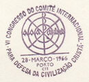 Portugal 1966 6th Congress of the International Committee for the Defense of Christian Civilization PMb.jpg