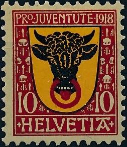 Switzerland 1918 PRO JUVENTUTE - Coat of Arms