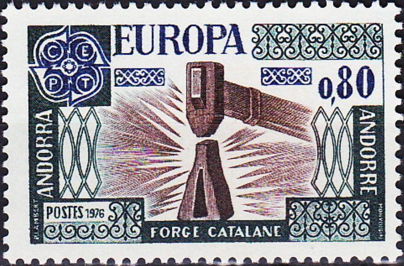 Andorra-French 1976 Europa