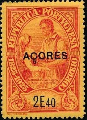 Azores 1925 Birth Centenary of Camilo Castelo Branco u.jpg