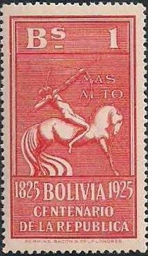 Bolivia 1925 Centenary of the Republic h.jpg