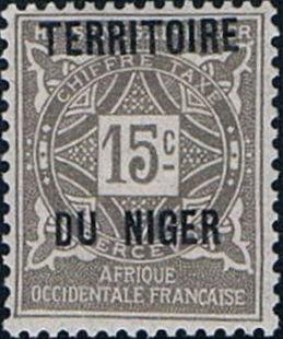 Niger 1921 Postage Due Stamps of Upper Senegal and Niger Overprinted c.jpg