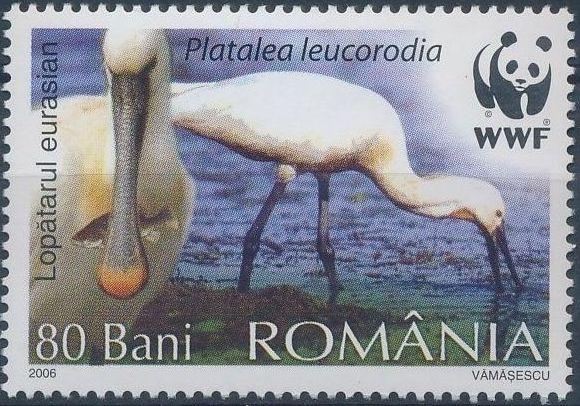 Romania 2006 WWF Eurasian Spoonbill c.jpg