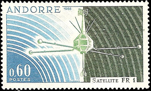 Andorra-French 1966 Launch of the French Satellite FR 1