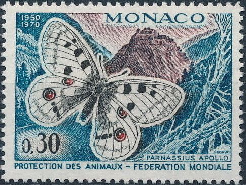 Monaco 1970 20th Anniversary of World Federation for Protection of Animals