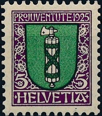 Switzerland 1925 PRO JUVENTUTE - Coat of Arms