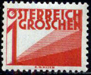 Austria 1925 Postage Due Stamps (Digit and Triangles) 1st Issue a.jpg