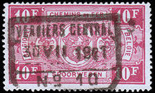 Belgium 1941 Railway Stamps (Numeral in Rectangle IV) t.jpg