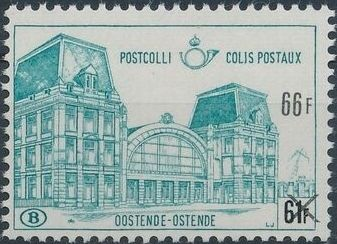 "Belgium 1971 Ostend Station Surcharged with New Value and ""X"" g.jpg"