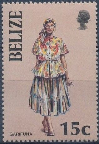 Belize 1986 Women in Folk Costumes c.jpg