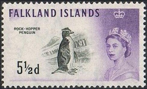 Falkland Islands 1960 Queen Elizabeth II and Birds g.jpg