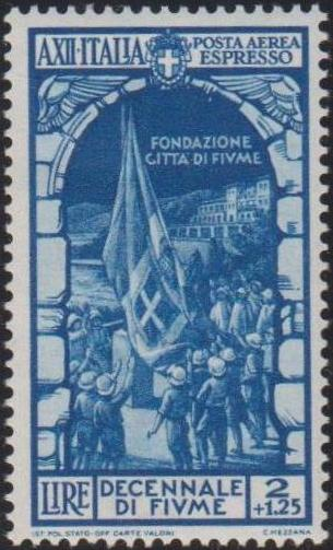 Italy 1934 10th Anniversary of Annexation of Fiume - Air Post Special Delivery Stamps a.jpg